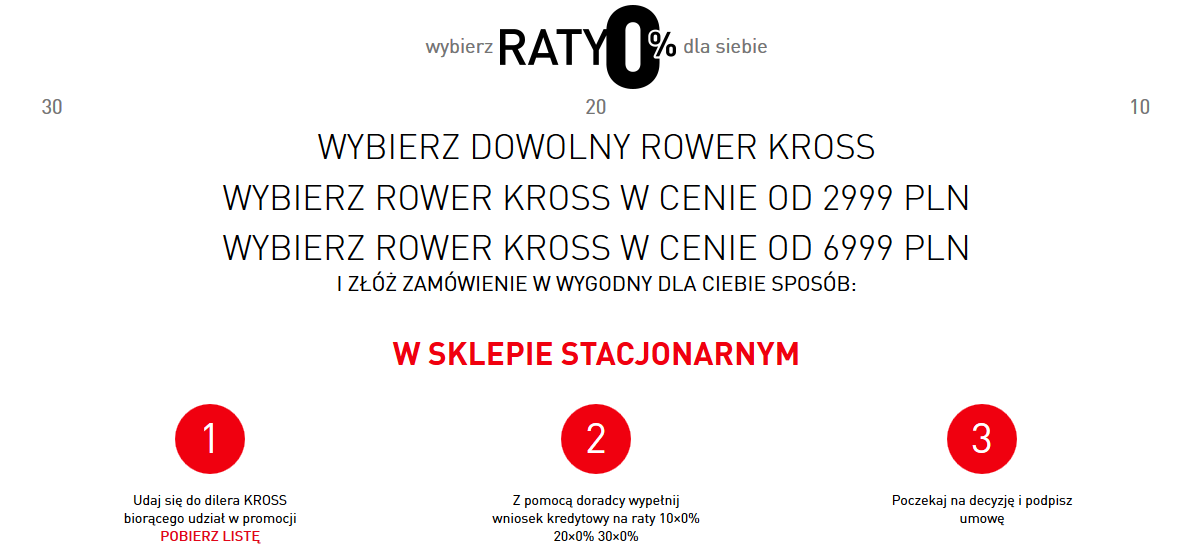 RATY 0% W AUTOBIKE.COM.PL KROSS LEVEL KROSS EVADO KROSS TRANS KROSS HEXAGON